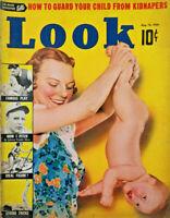 Look Aug 16 1938 Vtg Magazine Rudolph Valentino J Edgar Hoover Hitler Ideal Girl