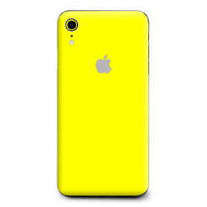 Skins Decal Wrap for Apple iPhone XR - Bright Yellow