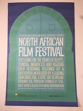 "North African Film Festival Poster 2011 Smithsonian Museum African Art 36""x 24"""