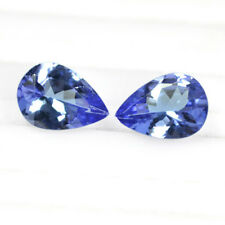 Natural Purple Blue Tanzanite AA+ Color Pear Cut Pair For Earrings 1.30 Cts Free