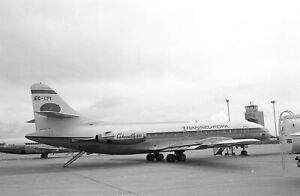 x3  TRANSEUROPA,  CARAVELLE,  EC-CPI.,  1978,  35mm aircraft NEGATIVES  NF6