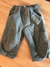 Petit Patapon France Baby Boy Warm Green Pull Up Pants 6-9 Month Soft Lined