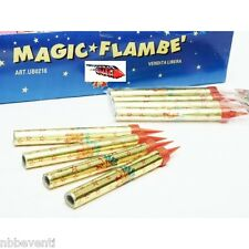 100 CANDELA CANDELINE MAGIC FLAMBE FONTANA LUMINOSA PARTY TORTA