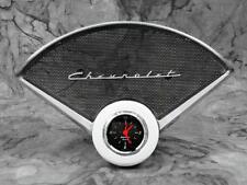 55-56 Chevy Car Billet Aluminum Clock Insert w/ Designer Black Clock 1955 1956