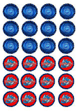 24 Beyblade 4cm round cupcake cake edible image toppers