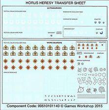Warhammer 40,000 40k Calth Horus Heresy Space Marine Ultramarines Transfer Sheet