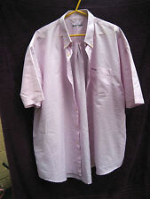 MENS DERBY COUNTY SHORT SLEEVED SHIRT IN A PINK AND BLUE CHECK PATTERN SIZE XXL