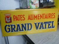 Ancienne tôle litho GRAND VATEL no plaque émaillée