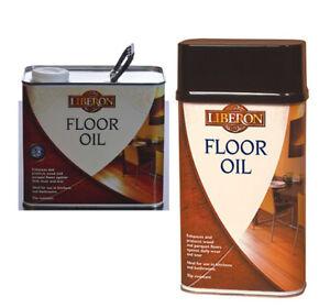 Liberon Wood Floor Oil Enhances & Protects Real Wood & Parquet Floors Soft Sheen