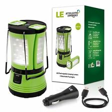 LE Camping Lantern Tent Light IPX4 600lm with 2 Detachable Mini Handy Flashlight