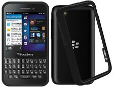 Amzer Border Frame Case Bumper Protective Side Cover For BlackBerry Q5 - Black