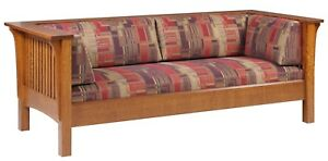 Mission Arts and Crafts | Stickley Style | Prairie Spindle Settle Sofa | Couch