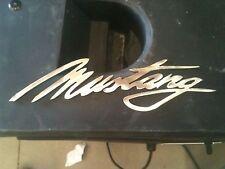 Plasma cut late model Metal Mustang script Man Cave Wall Decor