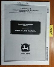 "John Deere 47"" Quick-Hitch Snowblower 10001- for X400 X500 Series Tractor Manual"
