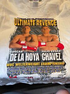 Vintage original Oscar De La Hoya vs. Julio Cesar Chavez fight t-shirt!