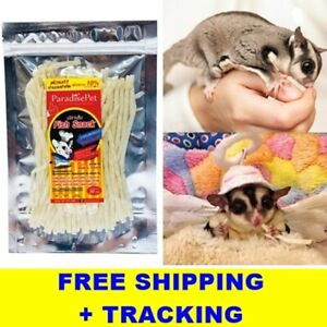 Pet Fish Protein Snack Hamster Sugar Glider Small Animal Teeth Care + Tracking