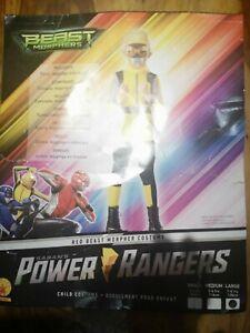 Beast Morphers Power Rangers Fancy Dress Yellow Aged 7-8 NEW