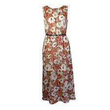 Calf Length Chiffon Floral Maxi Dresses for Women