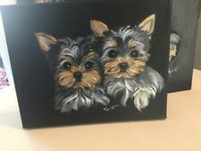 Yorkie Puppies Original Painting . Best Puppies On Ebay!