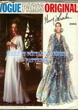 Vintage 70's VOGUE PARIS ORIGINAL 2444 LAROCHE Evening Wedding Prom Cruise Dress