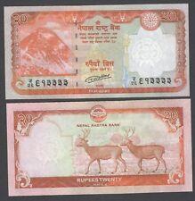 20 Nepal Rupee Bank Notes 2018 Mt. Everest, Swamp Deer