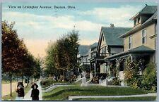 DAYTON OHIO LEXINGTON AVENUE 1915 ANTIQUE POSTCARD