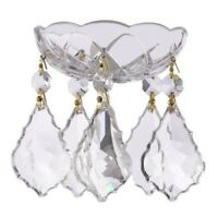 Asfour Lead Crystal Bobeche with 50mm French Chandelier Crystals Lamp Parts