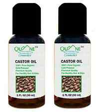 Quane Cosmetics Organic Castor Oil ~ Hair Regrowth & Facial Moisturizer 1 oz 2PK