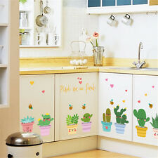 Flowerpot cactus Room Home Decor Removable Wall Stickers Decals Decoration