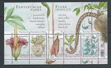 BELGIUM 2014 FLOWERS SOUVENIR SHEET  MNH** BLOK 213