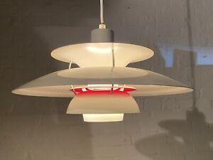 Louis Poulsen PH 5 Denmark Design Lampe PH 5 Coconut White mit Rot in OVP