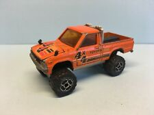 Diecast Majorette Toyota Pick-up No. 287 1/56 Orange Wear & Tear Used Condition