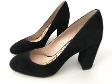 Sam Edelman Womens Stillson Black Suede Heels Pump Size 7.5 M