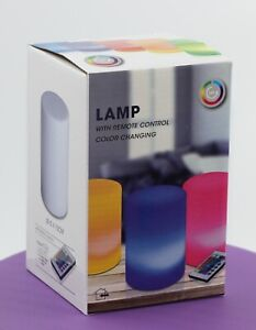 Lampada da Tavolo a Led cambia colore con telecomando diametro 10 x h 15 cm.
