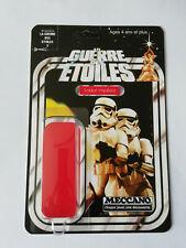 Stormtrooper LA GUERRE DES ETOILES Meccano 12 Back Card Custom Star Wars Kit