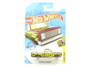 Hotwheels 83 Chevy Silverado HW Art Cars 247 Long Card 1 64 Scale Sealed New