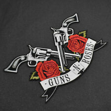 Women Guns N Roses Patches Deco Sew Embroidery Iron On Heat Clothes Applique