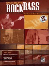 """Steve Bailey's Rock Bass"" The Ultimate Rock Bass Workout Music Book/Cd-New-Sale"