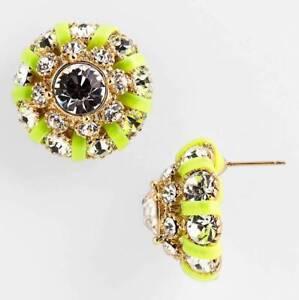 Kate Spade New York Stud Earrings Hipstitch 14k Gold NEW