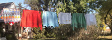 Vintage Lot Of 6 Old Fashion Half Aprons, Mixed Lot -some With Pockets