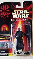 Star Wars Episode 1 Darth Maul Sith Lightsaber Commtech Action Figure NIP Hasbro