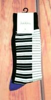 MENS NICOLE MILLER STUDIO PIANO KEYBOARD CREW SOCKS ONE SIZE