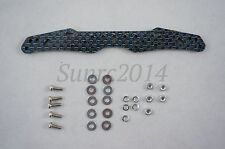 Custom Hg Carbon Multi Roller Stay - 3mm Blue Lame Front For Tamiya Mini 4Wd