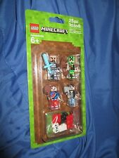 MINECRAFT Lego Minifigure Set of 4 #853609 ~2016/Pack #1/Skin Accessory Pack