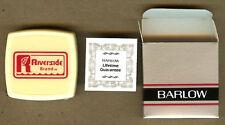 Vintage RIVERSIDE Brand Seeds, Barlow Advertising Seed Tape Measure,Ruler in Box