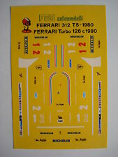 F1 DECAL FERRARI T5 1980 GP BRASILE VILLENEUVE