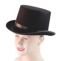#ADULT RINGMASTER BLACK BUDGET TOP HAT ADULT VICTORIAN FANCY DRESS