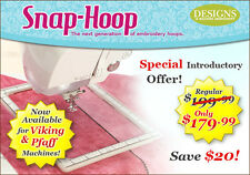 Snap Hoop Machine Embroidery Frames by DIME - Viking & Pfaff 120x 120 mm