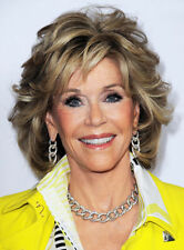Jane Fonda Medium Wavy Layered Synthetic Capless Wig 12 Inches Free Shipping