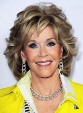 Jane Fonda Medium Wavy Layered Synthetic Capless Wig 12 Inches